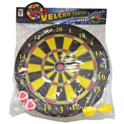 Hra terč k zavěšení 36cm se 2 soft míčky a 2 šipkami na suchý zip plast