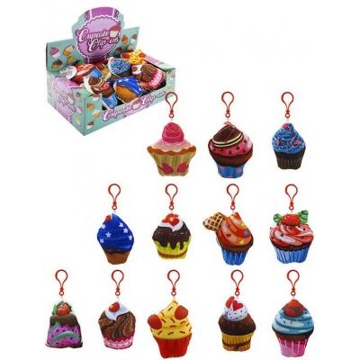PLYŠ Košíček dortík přívěšek cupcake s klipem *PLYŠOVÉ HRAČKY*