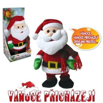 Postavička Santa Claus chodí a tancuje, zpívá česky 30cm