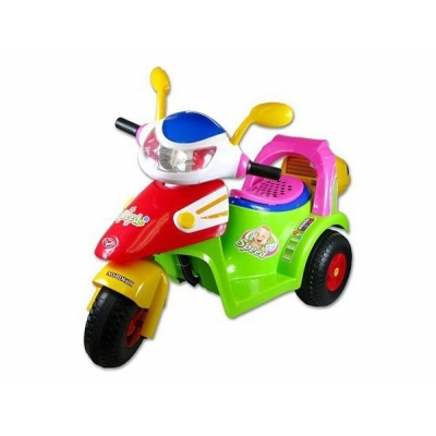 Motorka dětská 3 kola na baterie elektrické vozítko pro kluky a holky Světlo Zvu
