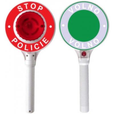 City Collection zastavovací terč policie dětská plácačka na baterie Světlo