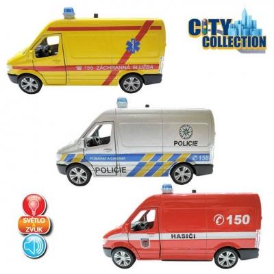 Auto City Collection záchranné složky Světlo Zvuk 3 druhy kov