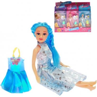 Panenka 15cm set s náhradními šaty 3 druhy v krabičce