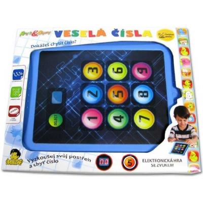 Hra interaktivní postřehová Veselá čísla tablet Světlo Zvuk