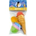 Pískový set formičky zmrzlina s kopečkem a naběračkou 9ks v sáčku