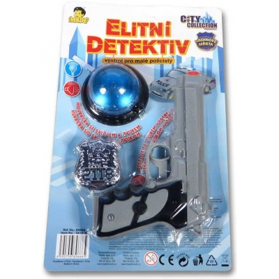Set City Collection elitní detektiv pistol s majákem a odznakem Světlo Zvuk
