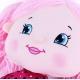 Panenka hadrová Terezka 50cm látková růžové vlásky s copánky
