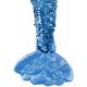 Panenka hadrová 45cm mořská panna ploutvička látková třpytivá s flitry