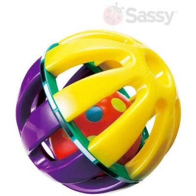 SASSY Baby set malý + velký míček s rolničkou plast pro miminko