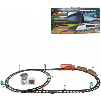 Express vlakový set dráha 397cm se 3 vagony a doplňky 56ks na baterie