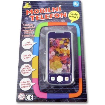 Telefon dětský mobilní 3D skutečná velikost dotykový plastový na baterie CZ Zvuk
