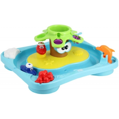 Baby ostrov zábavný do vany set s lodičkami do vody pro miminko