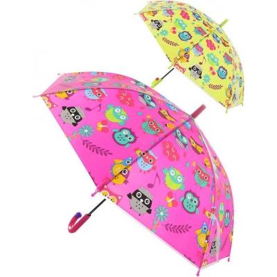 Deštník dětský holčičí Sovičky vystřelovací různé druhy