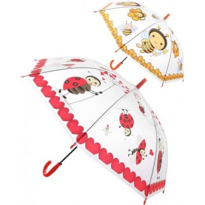 Deštník dětský holčičí průhledný Zvířátka vystřelovací různé druhy