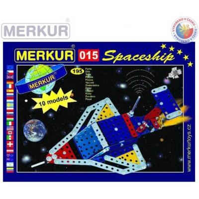 MERKUR M 015 Raketoplán 195 dílků *KOVOVÁ STAVEBNICE*