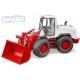 BRUDER 03410 Nakladač čelní model 1:16 červeno-bílý buldozer