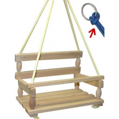 DŘEVO Houpačka dřevěná přírodní UNI 1011 * DŘEVĚNÉ HRAČKY *