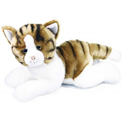 PLYŠ Kočička ležící žíhaná 50cm *PLYŠOVÉ HRAČKY*