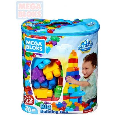 MEGA BLOKS Baby stavebnice pytel kostek pro chlapce set 80ks pro miminko