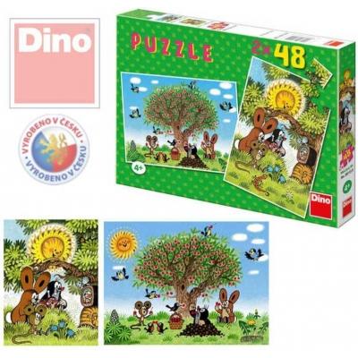 DINO Puzzle 2 x 48 Léto s Krtečkem (krtkem)