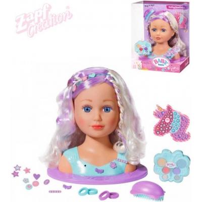 ZAPF CREATION Baby Born pohádková česací hlava set s make-upem a doplňky