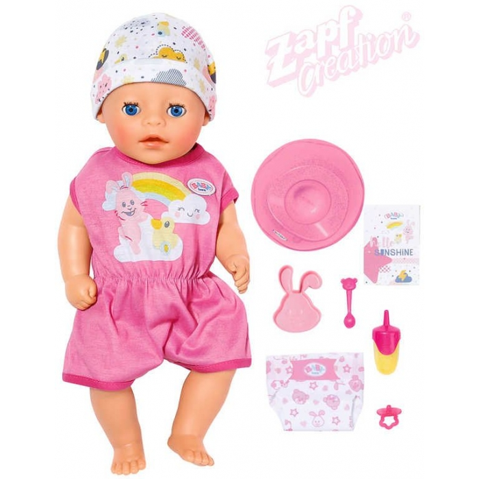 ZAPF BABY BORN Panenka malá holčička pláče pije čůrá set miminko s doplňky