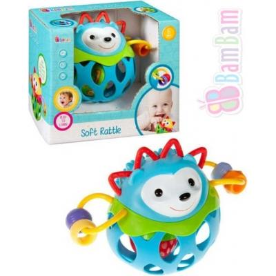 ET BAM BAM Baby Chrastítko Ježek měkké pro miminko plast v krabici