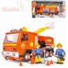 SIMBA Požárník Sam auto hasičské Jupiter set se 2 figurkami na baterie Světlo Zvuk