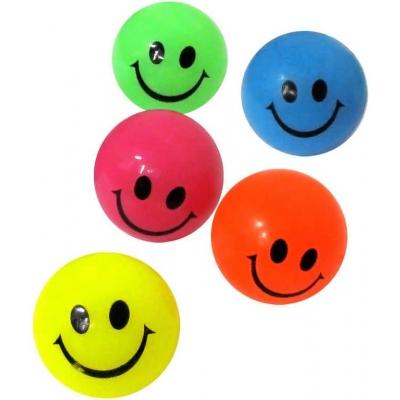 Hopík 4cm (skákací míček) skákačák smajlík obličej světlo 6 barev
