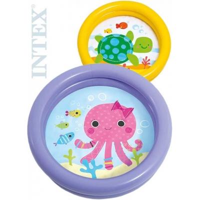 INTEX Bazének dětský nafukovací 61x15cm baby se zvířátkem 2 druhy 59409