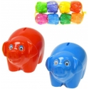 Dětská pokladnička barevná prasátko 17cm různé barvy