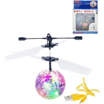 Helikoptéra míček Diamond 11cm reaguje na pohyb ruky USB kabel Světlo