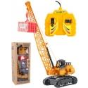 Jeřáb stavební 36cm ovládání na kabel set s kontejnerem na baterie v krabici