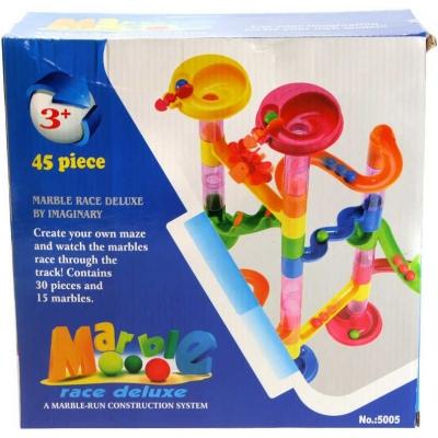 Dráha kuličková 45 dílků pouštění kuliček plast