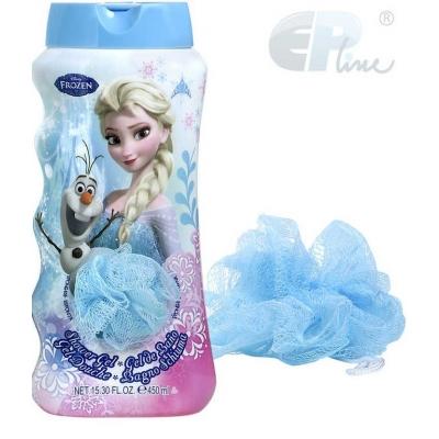 EP line set shower gel sprchový + žínka Frozen (Ledové Království) DĚTSKÁ KOSMETIKA