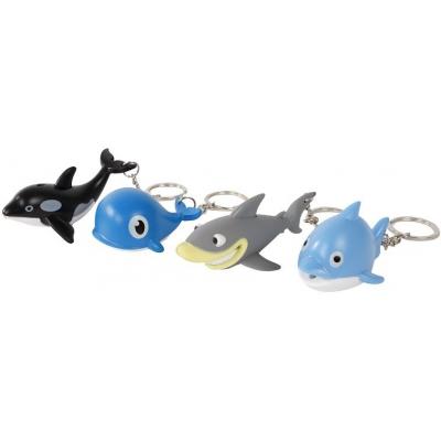 Přívěšek na klíče mořské zvířátko na baterie různé druhy Světlo Zvuk
