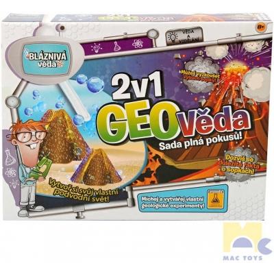 MAC TOYS Geo věda 2v1 geologické experimenty a pokusy dětská vědecká sada v krabici