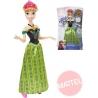 MATTEL Anna zpívající panenka princezna Frozen (Ledové Království)