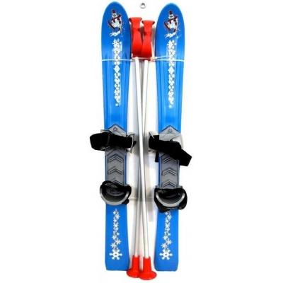 SEDCO Baby lyže dětské kluzky 70cm s holemi a vázáním modré
