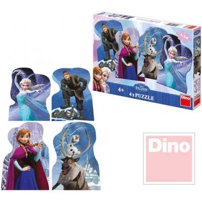 DINO Puzzle set 4v1 Frozen Ledové Království 54 dílků v krabici 13x19cm