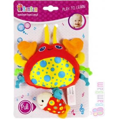 ET BAM BAM PLYŠ Baby přívěšek plyšový Krab hrající pro miminko Zvuk