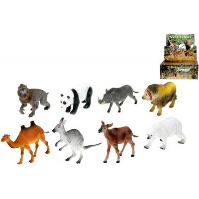 Zvířátko safari 12-18cm plast 8 druhů