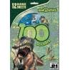 JIRI MODELS Omalovánky + samolepky 100ks Dinosauři