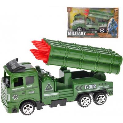 Army vozidlo vojenské raketomet 18cm auto na setrvačník plast