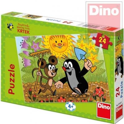 DINO Puzzle 24 dílků Krtek a Myška (Krteček) 26x18cm v krabici
