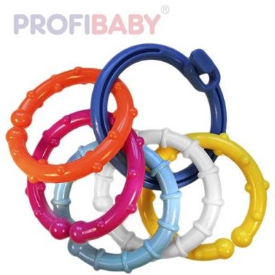 PROFIBABY Kroužek baby plastový s přívěsky chrastítko v sáčku