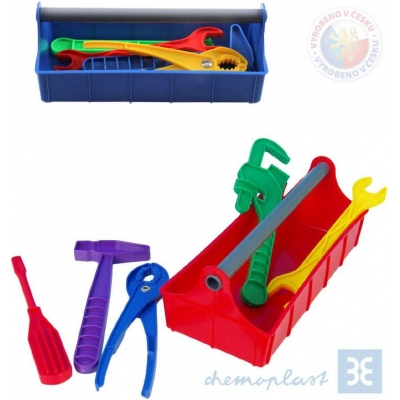 CHEMOPLAST Nářadí dětské set v přepravní bedýnce 2 barvy plast