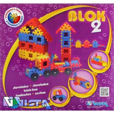 VISTA BLOK 2 Plastová STAVEBNICE 146 dílků