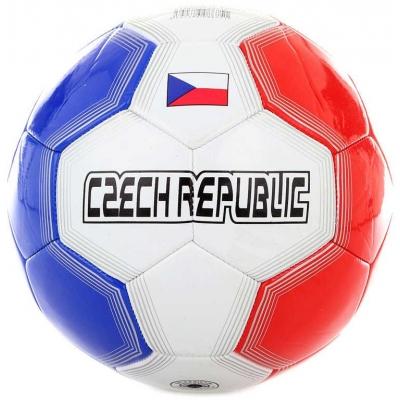 Míč fotbalový vel.5 Česká Republika kopačák 20cm šitý balon trikolora