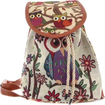 Batoh dětský holčičí sovičky s nastavitelnými popruhy na záda